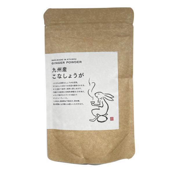 粉しょうが 九州産生姜100% 粉末生姜 生姜パウダー 福岡県産 メール便