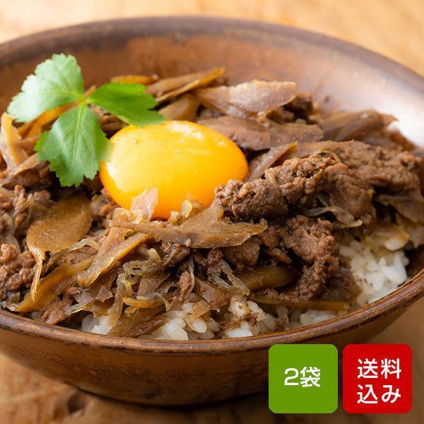 宮崎県産牛100% 牛丼の具 160g×2食 国産 レトルト おかず つゆだく 常温保存