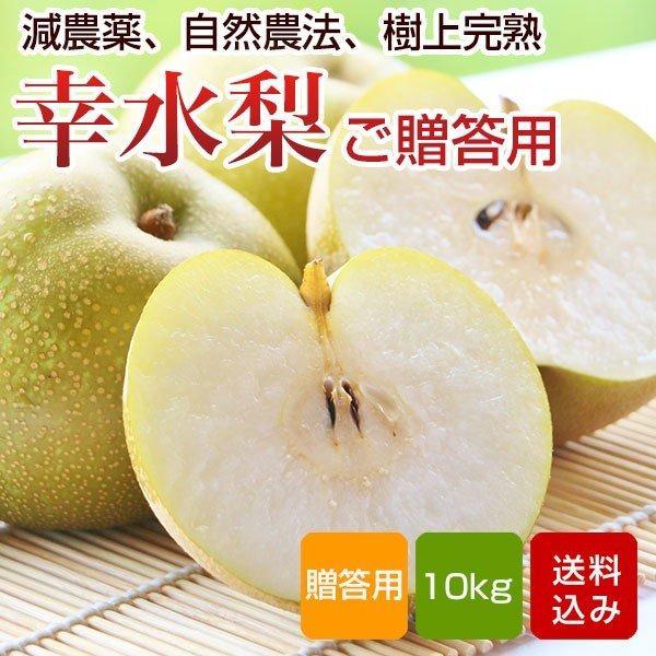 梨 幸水 10kg    贈答用 秀品 特別栽培 お中元 ギフト  福岡県産 ご予約品