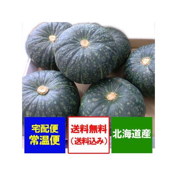 野菜 送料無料 かぼちゃ 北海道産 カボチャ 10kg(5玉〜7玉)1箱 価格3980円 南瓜はえびす/九十九里/くりゆたか/くりしょうぐんのいずれか