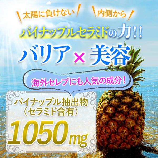 パイナップルセラミドの力、バリア、白さ引き出す、パイナップル抽出物、セラミド、パイナップル、サプリ、サプリメント