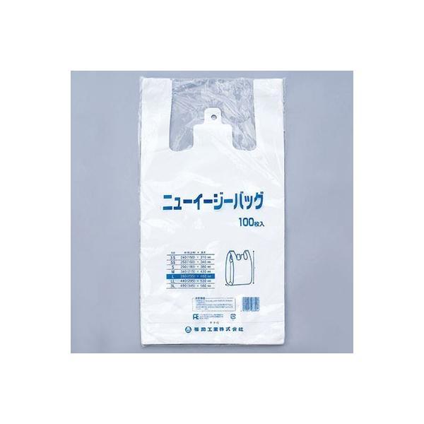 レジ袋 大サイズ ニューイージーバッグ3L 1袋100枚入 特大サイズ ゴミ袋 レジ袋 スーパーの袋 ビニール袋 使い捨て袋 ポイント消化
