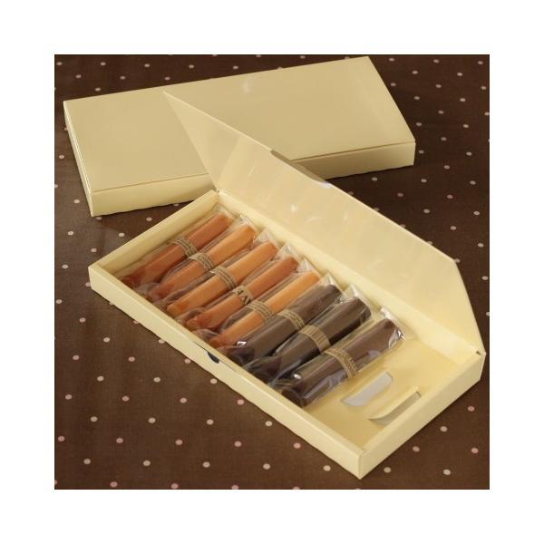洋菓子用ギフト箱 菓子箱 スティックBOXクリーム 10本入用 5枚入