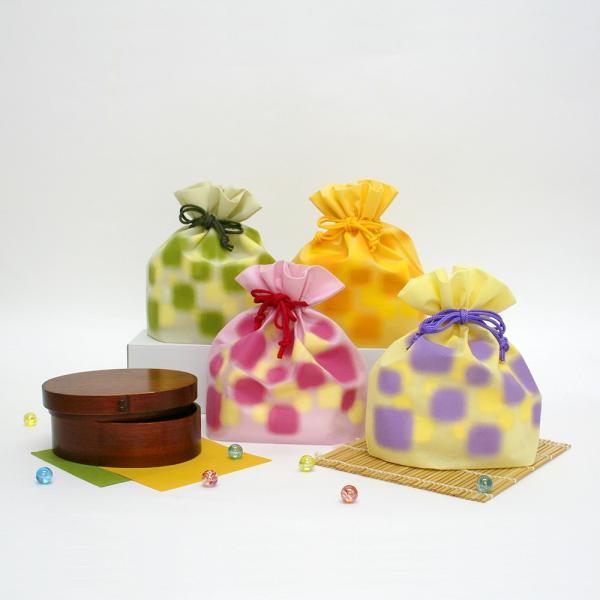 ギフト ラッピング袋 和風不織布巾着 ほのか 5枚入り 全4柄|asakura-ya|02
