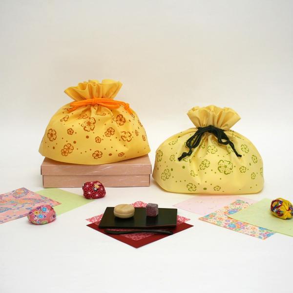 ギフト ラッピング袋 和風不織布巾着 花便り 大 5枚入り 全2柄|asakura-ya|02