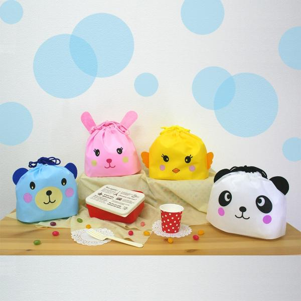 動物型巾着袋 あつまれ!どうぶつ巾着 5枚入り 全4種類|asakura-ya|02