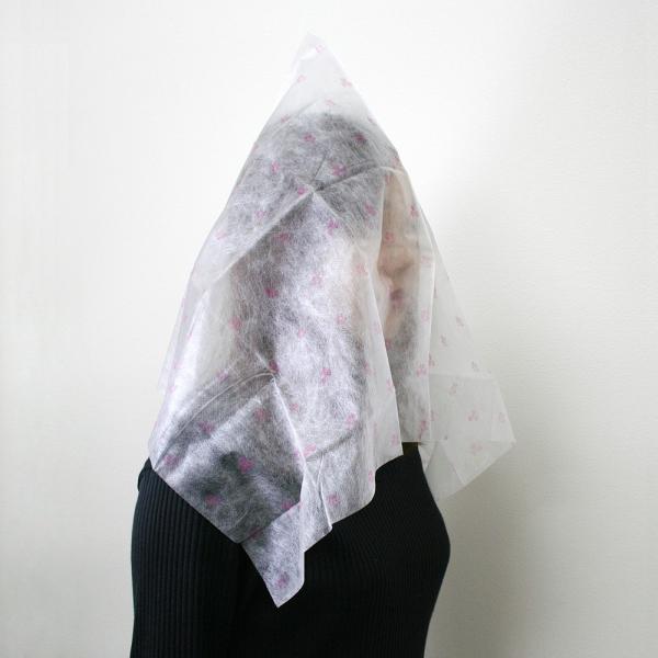 着替え用 不織布製 フェイスカバー 2枚組 衣類試着 着替え|asakura-ya|02