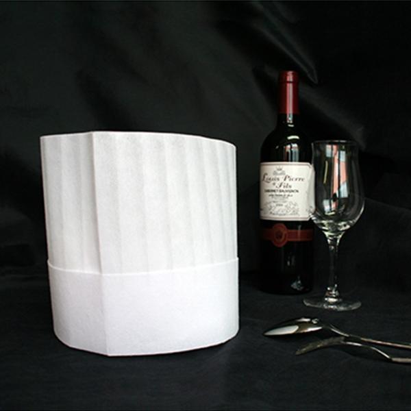 コック帽子 シェフハット 10枚入り プリントック 調理帽子 白|asakura-ya|03