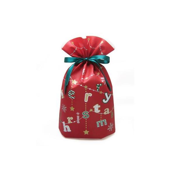 クリスマス巾着 メリクリバッグ 全2色 クリスマスラッピング クリスマスプレゼント袋 asakura-ya 05