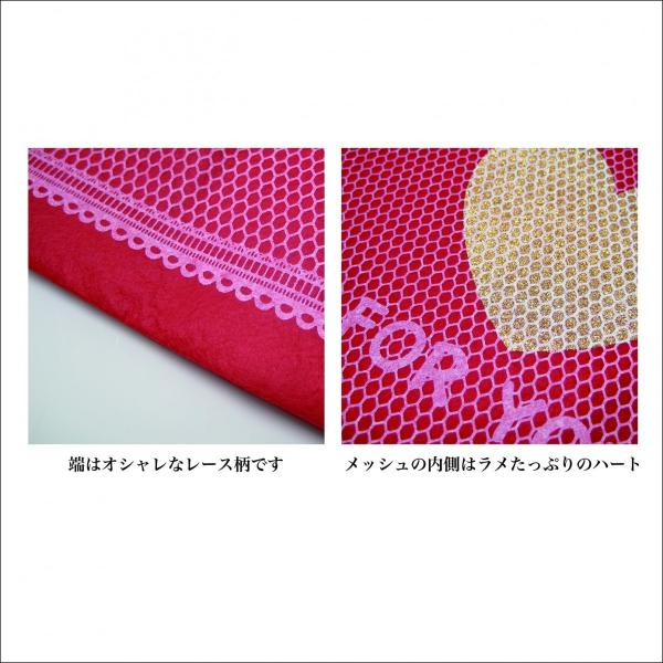 バレンタインギフト袋 ハートメッシュ巾着 M 全3色 ハートのプレゼントバッグ|asakura-ya|04