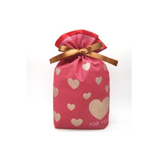 バレンタインギフト袋 ハートメッシュ巾着 M 全3色 ハートのプレゼントバッグ|asakura-ya|05