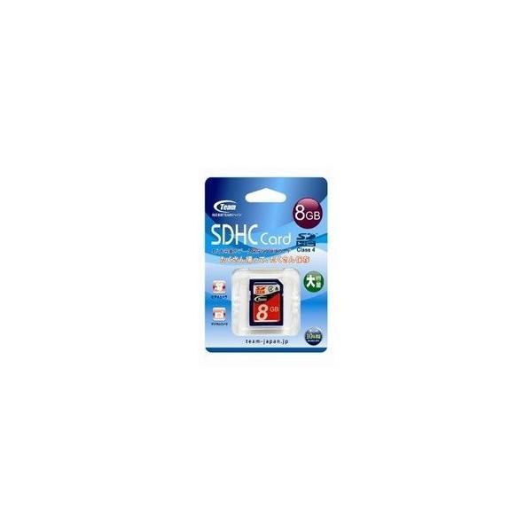 [メール便OK]【新品】【MEDIA】TEAM SDHCメモリーカード 8GB クラス4 TG008G0SD24X[お取寄せ品]|asakusa-mach