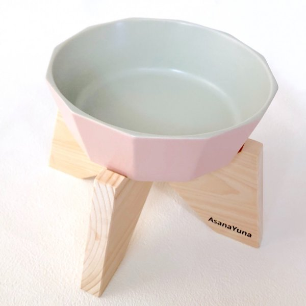 フードボウル 突起なし 犬 食器スタンド セット おしゃれ 日本製 瀬戸焼 陶器 水飲み ウォーター AsanaYuna 有害物質不使用|asanayuna2018|04