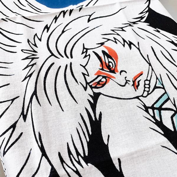 絵てぬぐい「鏡獅子」歌舞伎 /手ぬぐい 手拭い タオル 日本製 海外お土産 外国人 プレゼント ギフト 絵画 和雑貨 和柄 額 アートフレーム|asanoha-shop