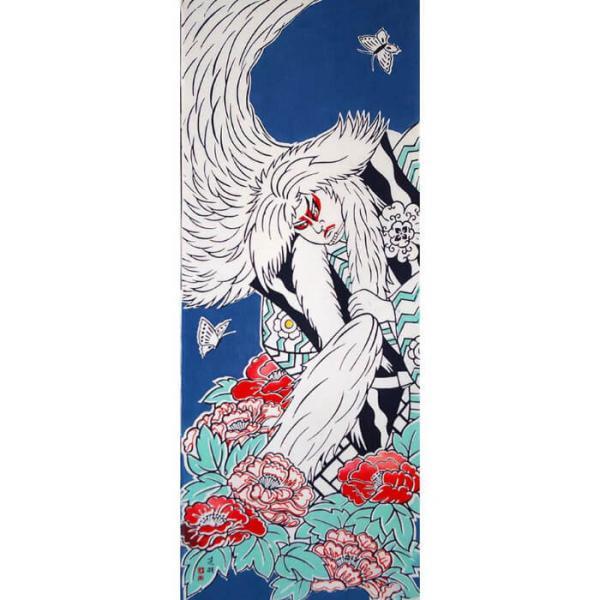 絵てぬぐい「鏡獅子」歌舞伎 /手ぬぐい 手拭い タオル 日本製 海外お土産 外国人 プレゼント ギフト 絵画 和雑貨 和柄 額 アートフレーム|asanoha-shop|02