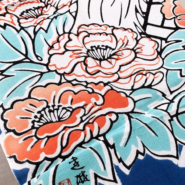 絵てぬぐい「鏡獅子」歌舞伎 /手ぬぐい 手拭い タオル 日本製 海外お土産 外国人 プレゼント ギフト 絵画 和雑貨 和柄 額 アートフレーム|asanoha-shop|03