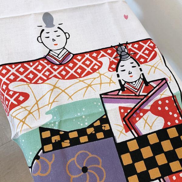 絵手ぬぐい「おひなさま」春 /ひな祭り 雛祭り お雛様 桃の節句 ひな人形 雛人形/手ぬぐい 手拭い 日本製 海外への土産 外国人 プレゼント ギフト 和雑貨 和柄|asanoha-shop