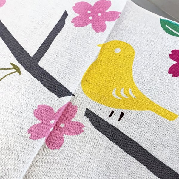 絵てぬぐい「花と小鳥」四季 春 /手ぬぐい 手拭い タオル 日本製 海外お土産 外国人 プレゼント ギフト 絵画 和雑貨 和柄 額 アートフレーム|asanoha-shop