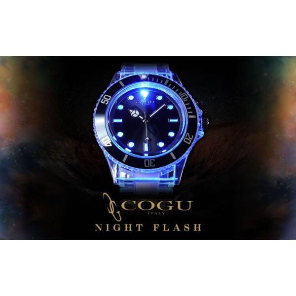 4万9800円→90%OFF COGU ITALY腕時計 ナイトフラッシュ/ウォッチ LED発光男女兼用/アウトドアの夜楽しいよ アクセサリー ashiya-rutile 08