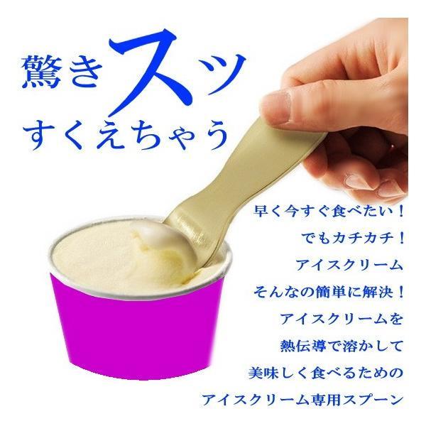 驚くほどスッとすくえる/アルミ製 高級アイスクリームスプーン ashiya-rutile