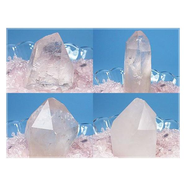 ≪完売御礼≫ポイント水晶クラスター浄化3点セット!ローズクォーツさざれ水晶200g/日本製ガラスの器/天然石パワーストーン浄化セット|ashiya-rutile|02