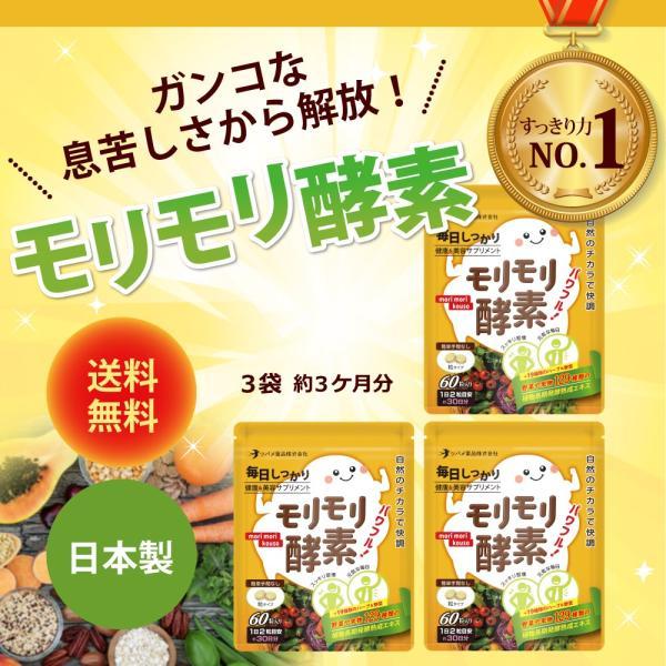 サプリ サプリメント 酵素 モリモリ酵素 ダイエット 約3カ月分 ツバメ薬品|ashiyacojp
