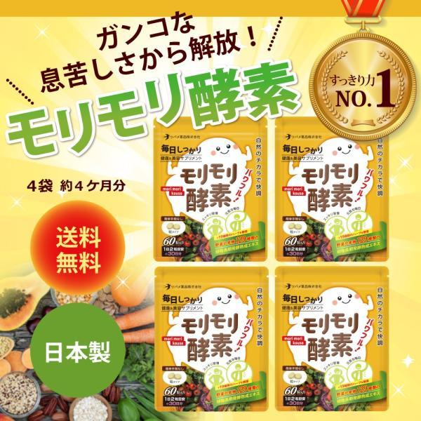 サプリ サプリメント 酵素 モリモリ酵素 ダイエット 約4カ月分 ツバメ薬品|ashiyacojp