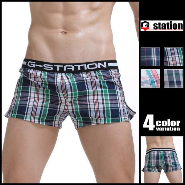 下着 トランクス ジーステーション G-Station メンズ メンズインナー パンツ 男性 ローライズ アジアンクローゼット|asian-closet