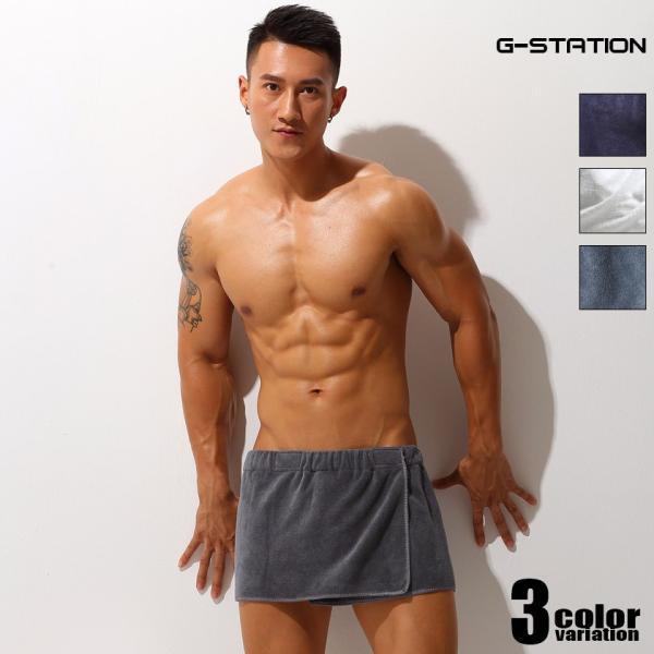 G-Station/ジーステーション マジックテープ式腰巻タオル マイクロファイバー ふわふわ ショート丈|asian-closet