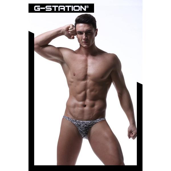 G-Station/ジーステーション スベスベモノクロ ストレッチフィット ビキニ 男性下着 ハーフバック タグレス|asian-closet|08