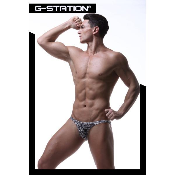 G-Station/ジーステーション スベスベモノクロ ストレッチフィット ビキニ 男性下着 ハーフバック タグレス|asian-closet|09