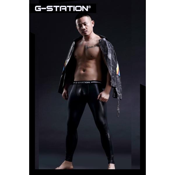 G-Station/ジーステーション 3D立体ポーチ ラバーテイスト メッシュ切り返しタイツ モッコリ メッシュ タイツ ロングパンツ|asian-closet|06