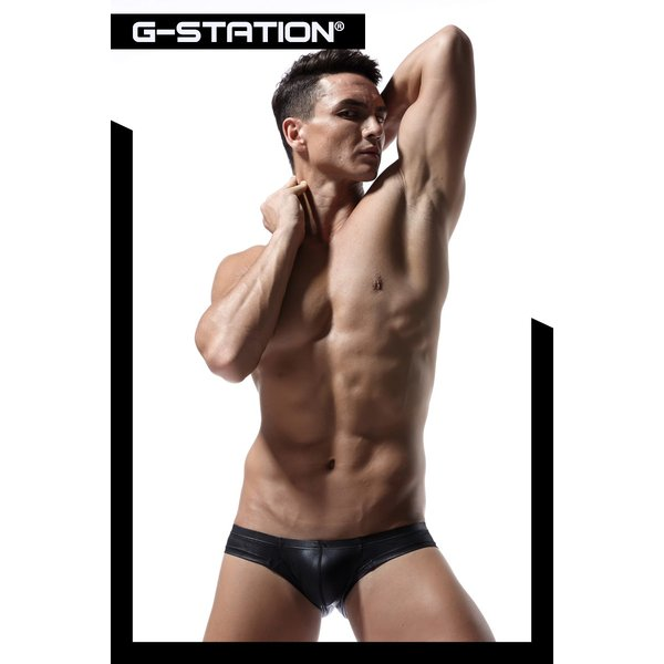 G-station/ジーステーション ラバーテイスト ミニチーク セクシーボクサーパンツ HIP FIT!!モッコリ 立体縫製 フェイクレザー|asian-closet|08