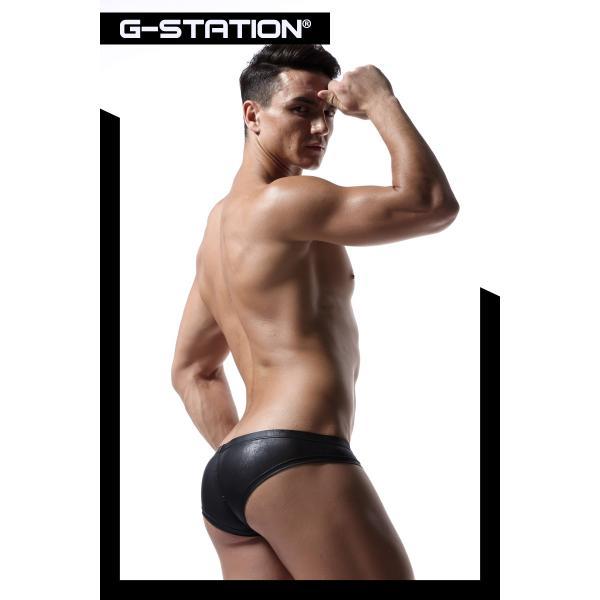 G-station/ジーステーション ラバーテイスト ミニチーク セクシーボクサーパンツ HIP FIT!!モッコリ 立体縫製 フェイクレザー|asian-closet|09