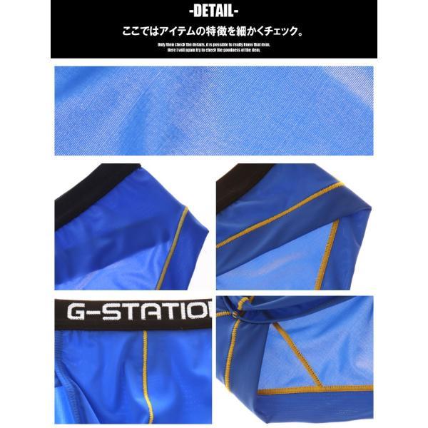 G-Station/ジーステーション スリムウエストバンド 薄手透け生地 ビキニ 男性下着 ブリーフ|asian-closet|06