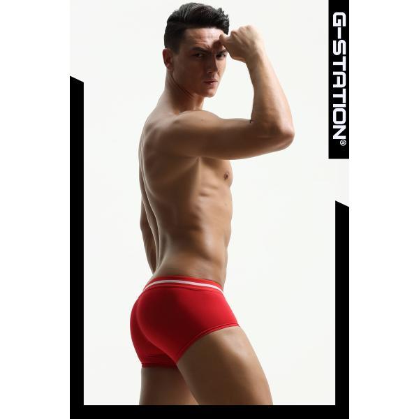 G-Station/ジーステーション 招福魔除け祈願 縁起物赤パン 3D立体ポーチ ボクサーパンツ メンズ  ローライズ 男性下着|asian-closet|04