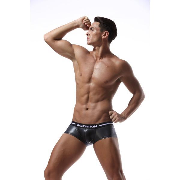 G-station/ジーステーション JET BLACKシリーズ ラバーテイスト ボクサーパンツ 男性下着 メンズ パンツ|asian-closet|04