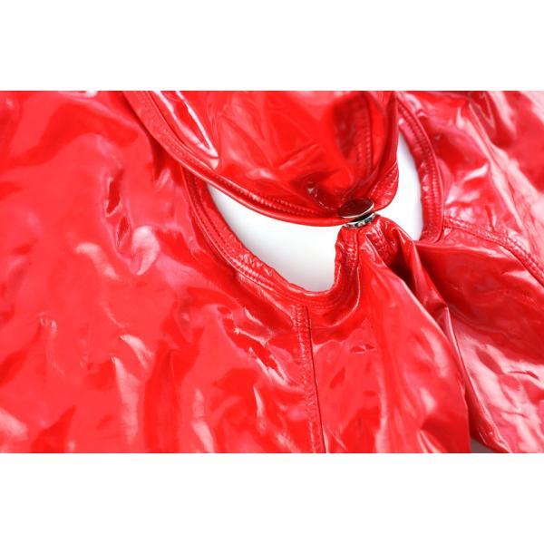 ノーブランド ビビットカラー エナメル ロングOバック ボクサーパンツ モッコリ ボタン式カバー付き 男性下着 メンズ パンツ|asian-closet|06