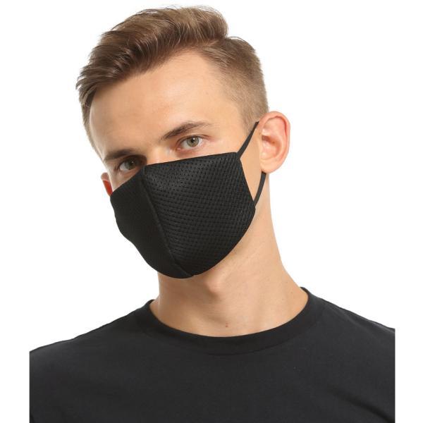 布マスク Wメッシュ 呼吸がしやすい 息苦しくない スポーツ マスク嫌い オフィス 勉強 電話業務 男女兼用 通勤 通学 耳が痛くなりにくい|asian-closet|13