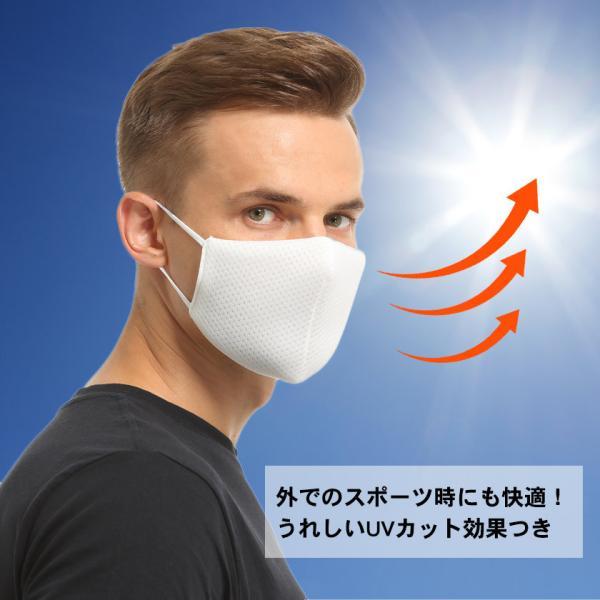 布マスク Wメッシュ 呼吸がしやすい 息苦しくない スポーツ マスク嫌い オフィス 勉強 電話業務 男女兼用 通勤 通学 耳が痛くなりにくい|asian-closet|08