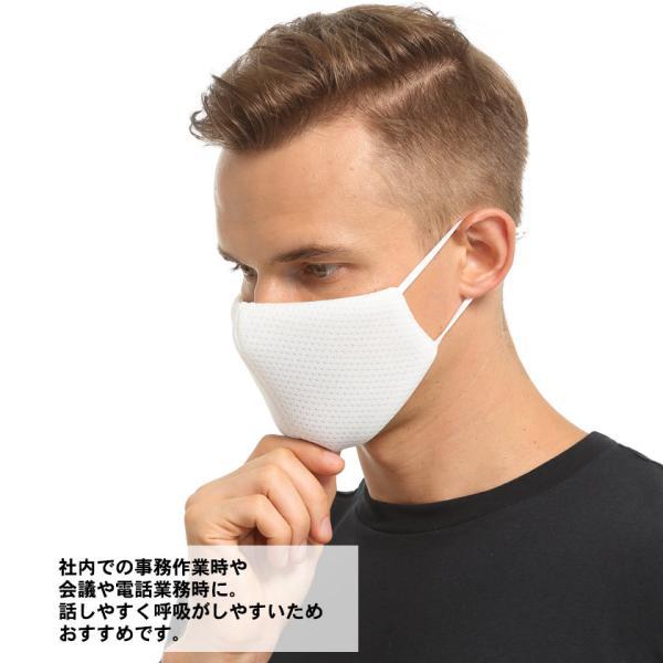 布マスク Wメッシュ 呼吸がしやすい 息苦しくない スポーツ マスク嫌い オフィス 勉強 電話業務 男女兼用 通勤 通学 耳が痛くなりにくい|asian-closet|09