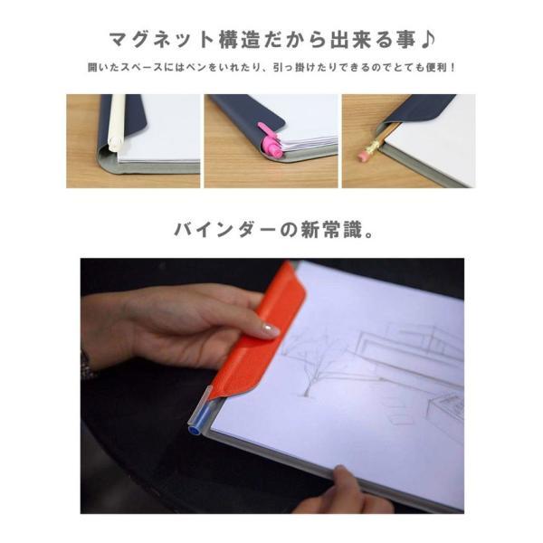 クリップボード マグネット式 メンズ レディース サフィアノ スエード PUレザー A4サイズ|asianarts|05