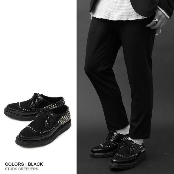 メンズシューズ 靴 シューズ メンズ ラバーソール 厚底 スタッズ ロック ヴィジュアル系 パンク V系 モード 個性的 個性 派手 ロカビリー|asianarts|04