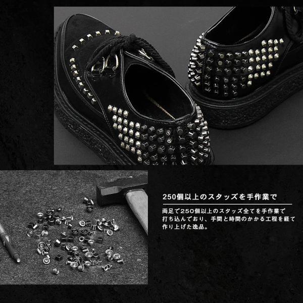 メンズシューズ 靴 シューズ メンズ ラバーソール 厚底 スタッズ ロック ヴィジュアル系 パンク V系 モード 個性的 個性 派手 ロカビリー|asianarts|06