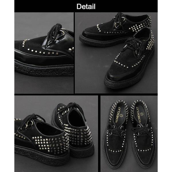 メンズシューズ 靴 シューズ メンズ ラバーソール 厚底 スタッズ ロック ヴィジュアル系 パンク V系 モード 個性的 個性 派手 ロカビリー|asianarts|09