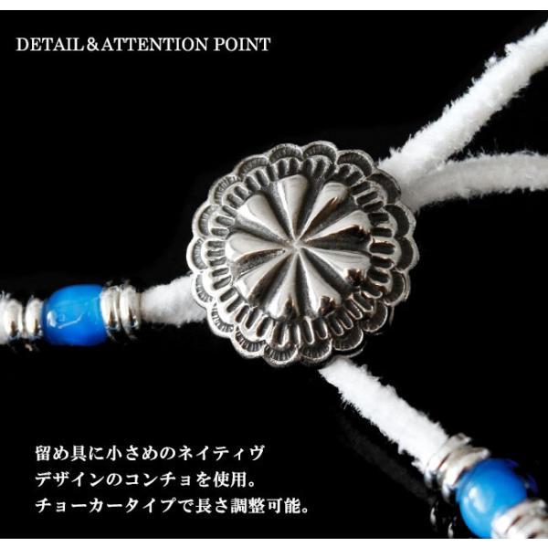 ブレスレット メンズ レディース レザー 本革 ネイティブデザイン ホワイトハート レザーブレス 革紐|asianarts|05
