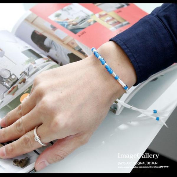 ブレスレット メンズ レディース レザー 本革 ネイティブデザイン ホワイトハート レザーブレス 革紐|asianarts|08