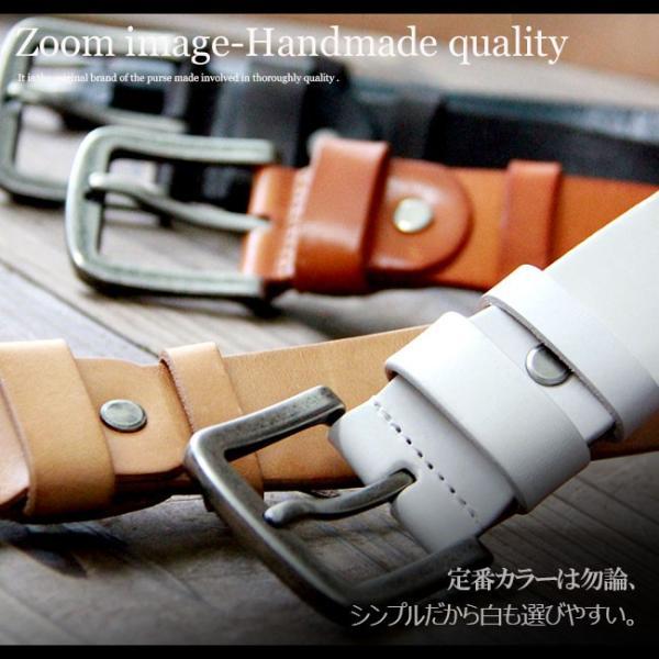ベルト 本革 メンズ 牛革 レザー 大きいサイズあり 選べる5色 シンプルベルト ヌメ革|asianarts|03