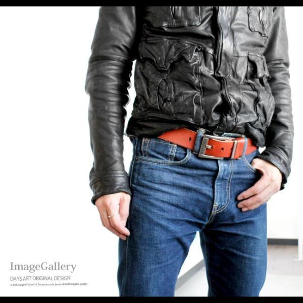 ベルト 本革 メンズ 牛革 レザー 大きいサイズあり スクエアバックル ビンテージ加工 シンプル|asianarts|11