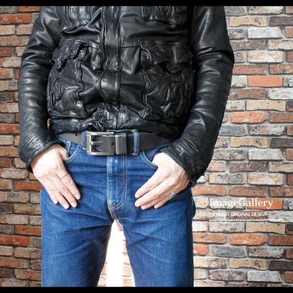 ベルト 本革 メンズ 牛革 レザー 大きいサイズあり スクエアバックル ビンテージ加工 シンプル|asianarts|10